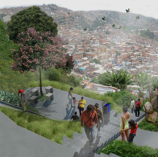 Acupuntura urbana busca requalificar o bairro La Morán em Caracas, Venezuela,Cortesia de Enlace Arquitectura