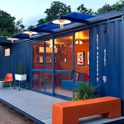 Shipping container home. i will live in this one day.
