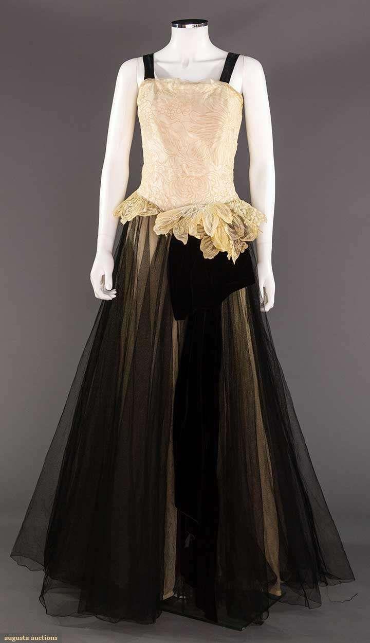 IRENE BLACK & WHITE BALL GOWN, c. 1948 | Vintage Fashion: 1920\'s ...