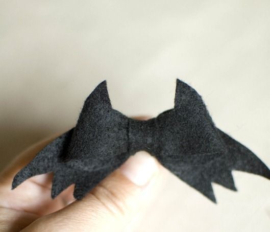 how to make a bow with felt