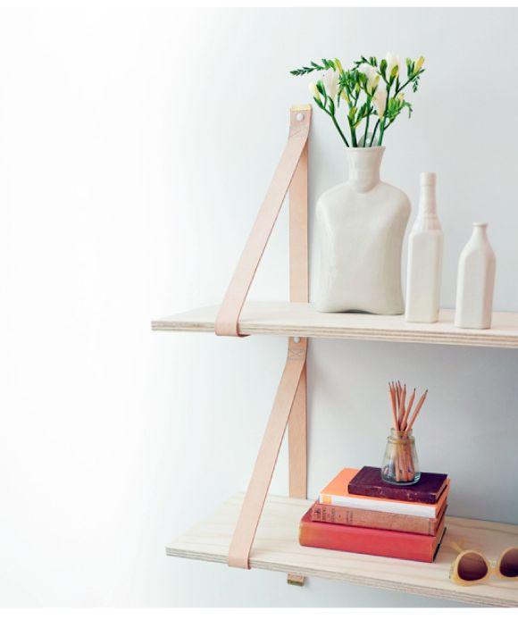 Hippe leren band planken uit Australië   Interieur design by nicole & fleur