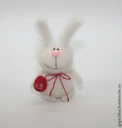 Белый Пасхальный кролик - белый,салатовый,кролик,заяц,зайчик,Пасха,Праздник