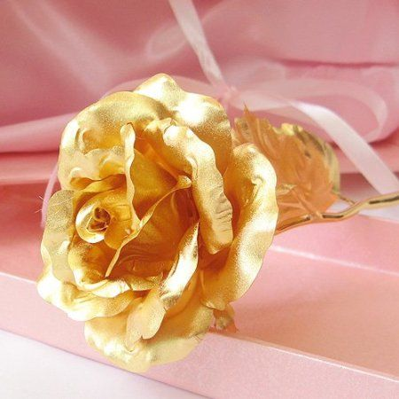 24K 6-Inch Gold Foil Rose - Best Valentine's Day Gifts - Handcrafted & Last Forever!    Price:	$34.87