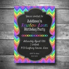 invitations black with rainbow writing and frame - Google Search