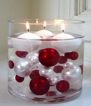 Homemade Christmas Centerpieces | White & Red Color Palettes for Winter Christmas Weddings