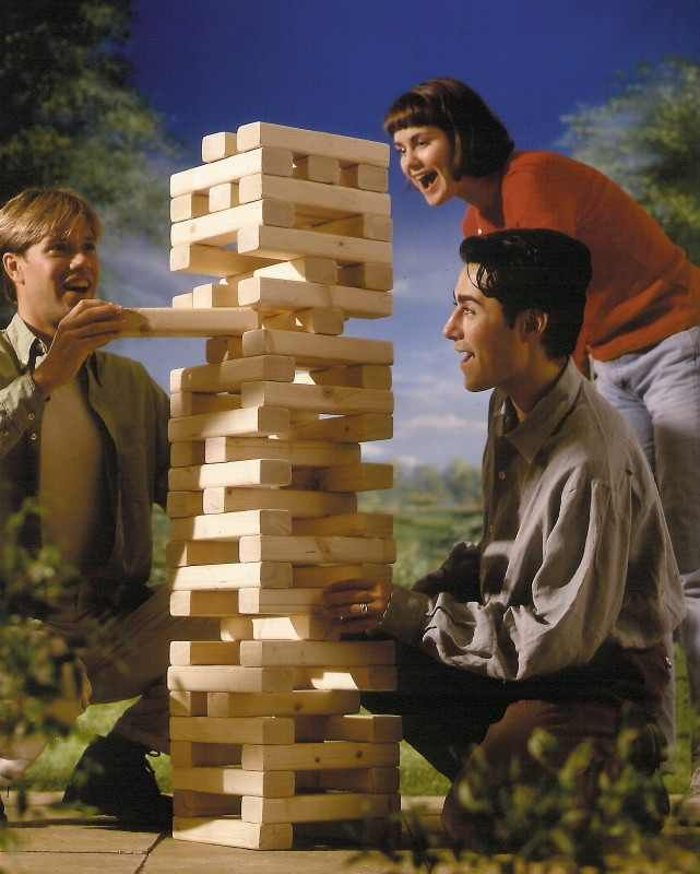 life-size jenga. decent directions on forum. This will be at our next home party.