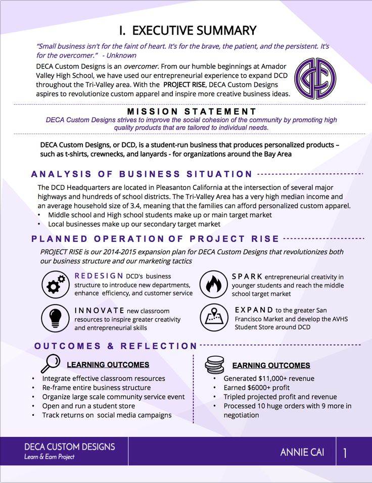DECA Executive Summary 1 PORTFOLIO Pinterest - executive summary