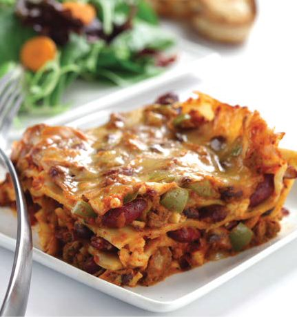 Zesty Bean and Beef Lasagna