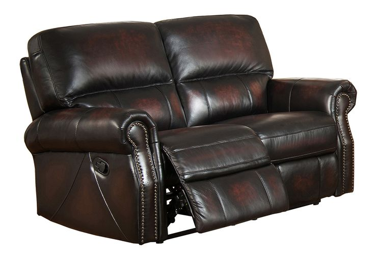 Nevada Leather Loveseat Recliner