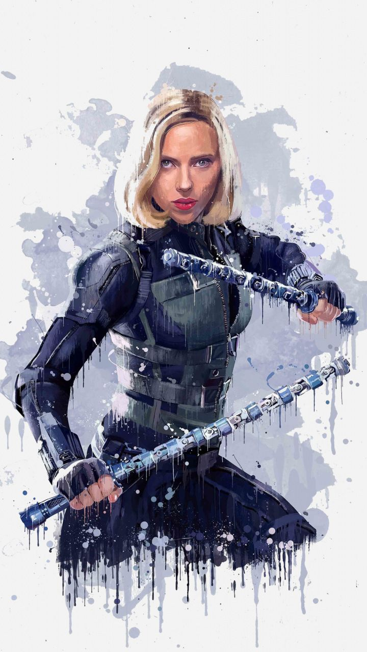 Black Widow Avengers Infinity War Artwork 2018 720x1280 Wallpaper Black Widow Marvel Marvel Infinity War Marvel Superheroes