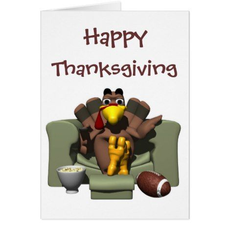 Happy Thanksgiving Football Card #thanksgiving