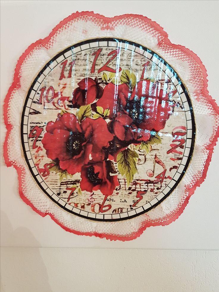 orologio fatto a mano su tela