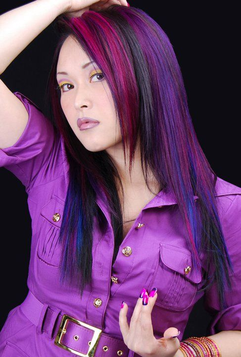#hair #hairstyle #color #purple  www.doctoredlocks.com
