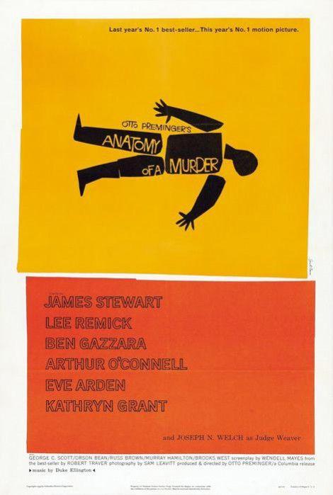 Όλες - μα όλες - οι κινηματογραφικές αφίσες που σχεδίασε ο  Saul Bass - GRAPHICO - LiFO