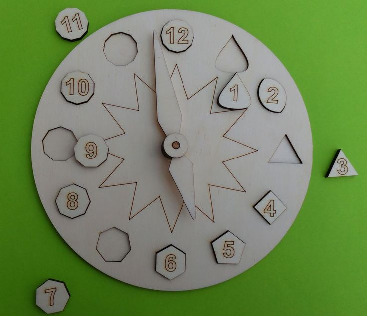 Vkládačka hodiny s čísly