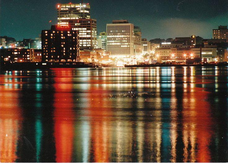 City lights Saint John, New Brunswick, Canada 1990