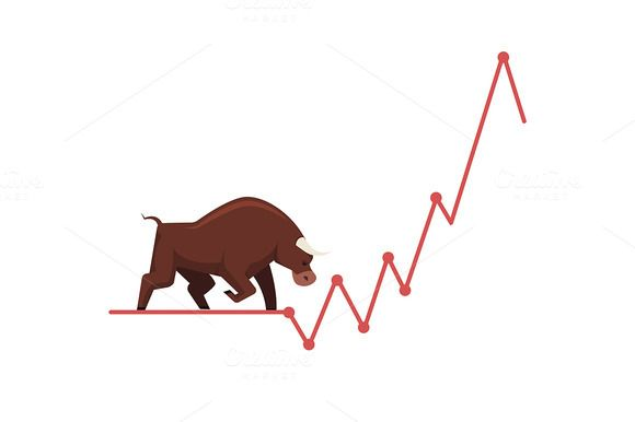 Stock exchange market bulls metaphor @creativework247
