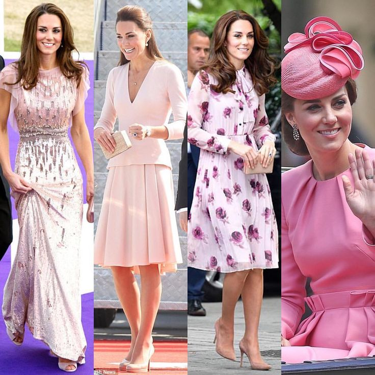 """50 Likes, 1 Comments - Duchess of Cambridge (@katemiddletonfashion) on Instagram: """"Is there a color Kate can't pull off? For me one of my favorites is pink. Here are four times…"""""""