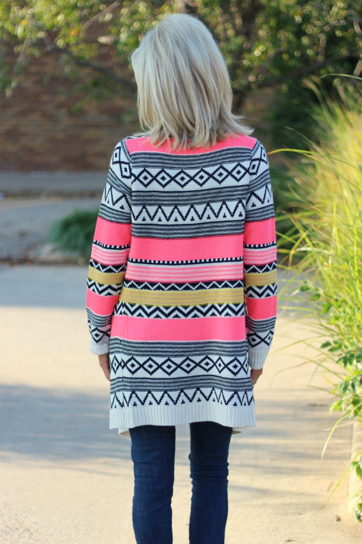 One Faith Boutique - She's Like Texas Tribal Print Cardigan ~ Neon Pink ~ Sizes 4-10, $40.00 (http://www.onefaithboutique.com/new-arrivals/shes-like-texas-tribal-print-cardigan-neon-pink-sizes-4-10/)