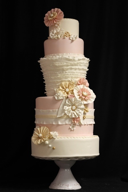 Wedding cake! Love how it's whimsical and the right colors (: