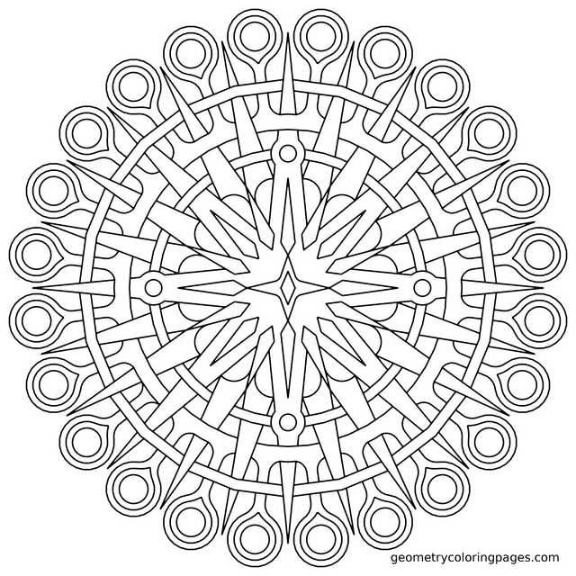 Geometry Coloring Pages All Age Coloring Pages Coloring Books Coloring Pages Mandala Coloring Pages