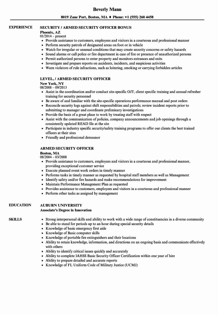 23 Military Police Job Description Resume in 2020 (With