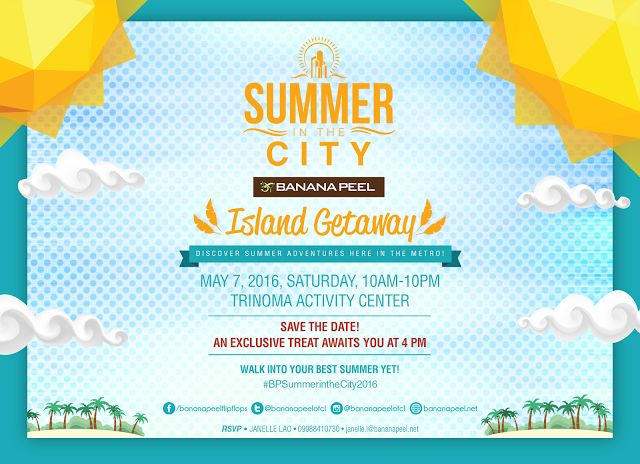 7 best travel events images on pinterest philippines door entry join the summer in the city island getaway by banana peel 2016 may 7th in trinoma stopboris Gallery