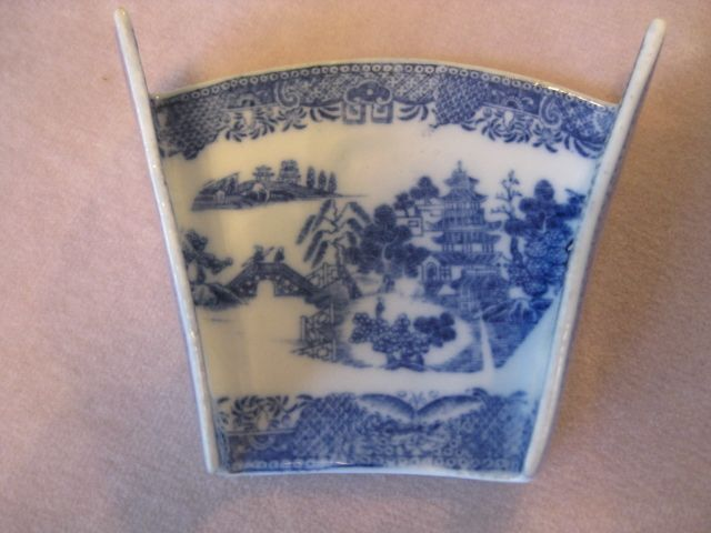 """An early Spode asparagus server printed with the """" Buddleia"""" pattern Circa  1800  Workmans mark"""