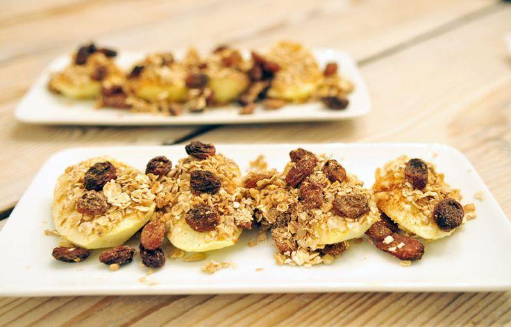 Dit dessert met appel uit de oven is een heerlijk voorbeeld van een verantwoord toetje.