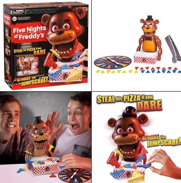 FIVE NIGHTS AT FREDDY'S - FAMILY SPINNER BOARD GAME Steal His Pizza If You Dare! #MooseToys