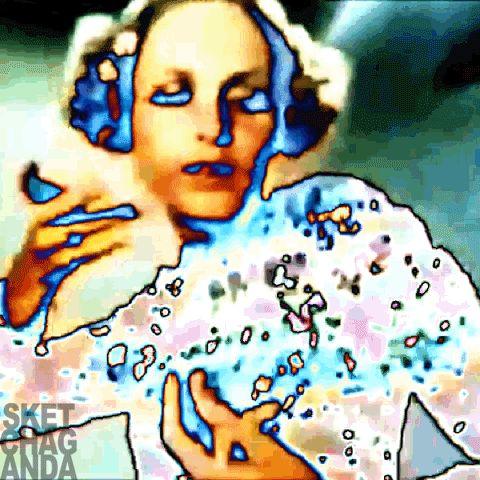 Dancing Twiggy gif by Sketchaganda Pop art