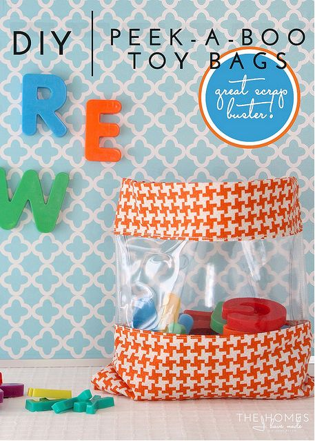 DIY Peek-a-Boo Toy Bags – A Great Scrap Buster Project! | The Homes I Have Made