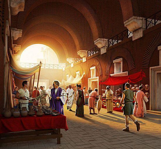 Hala targowa na Forum Trajana