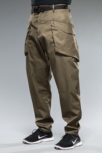 ACRONYM* Garbardine Cargo Pant, Raf Green