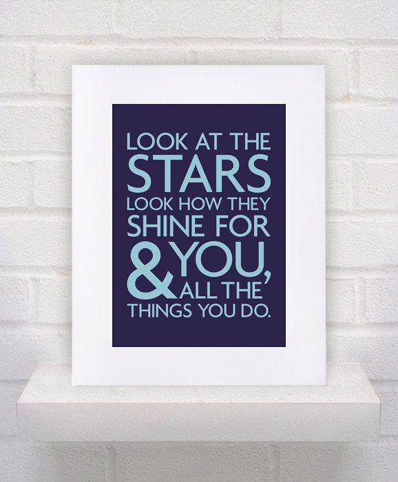 Look at the Stars - Coldplay Lyrics