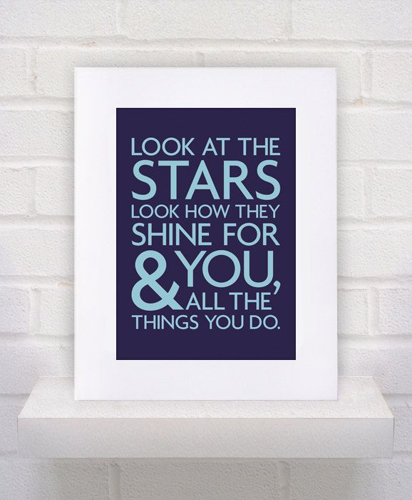 Look at the Stars - Coldplay Lyrics