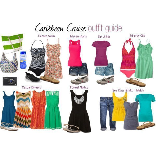 Inspiration look Day to night : Take a look at the following images and get ideas on Caribbean cruise outfits an
