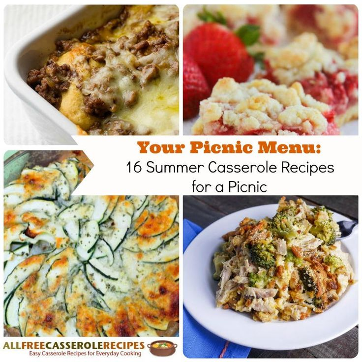 Your Picnic Menu: 16 Summer Casserole Recipes for a Picnic | AllFreeCasseroleRecipes.com