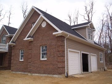 Charcoal Roof Khaki Hardi Red Brick White Trim Combo