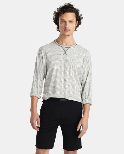 Pantalón de pijama de hombre Emidio Tucci de punto corto negro
