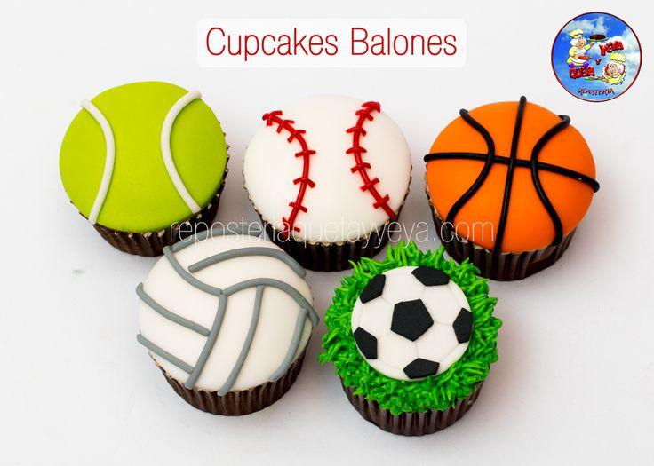 Cupcakes balones - Balls cupcakes
