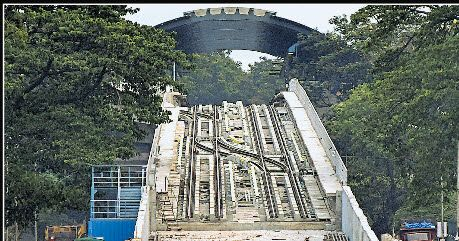 Namma Metro may connect South Bengaluru in 2 months    Namma Metro may connect South Bengaluru in 2 months     Bengaluru: The eight-km elevated Metro line between National College, Basavanagudi, and Puttenahalli Cross, JP Nagar, is likely to open in two months.