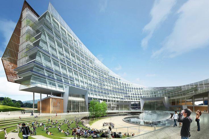 L'architecture moderne à Hydro Siège d'énergie nucléaire de la Corée du Sud.