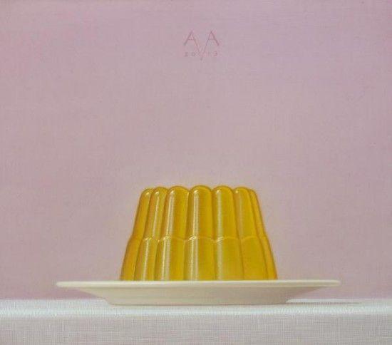 Simple, hyper real paintings of jellies. By Arnout van Albada and via jealous curator.