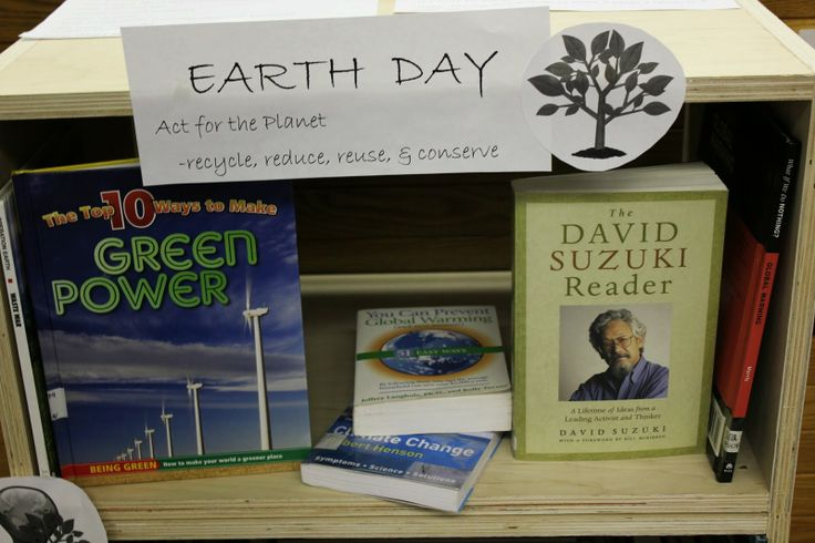 Some of our reference books on environmental issues.