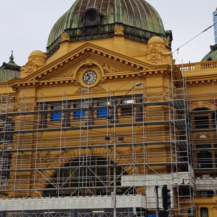 Flinders Street Station is getting a facelift. From today Melbourne CBD adventure.