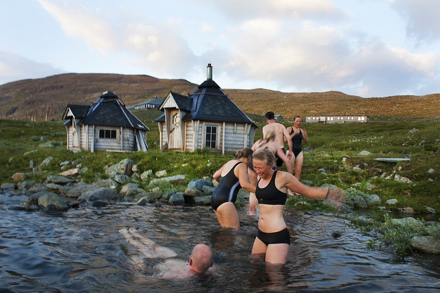 Sylarna by VisitSweden, via Flickr Go Sweden and sit in a sauna and then jump in a lake or river!