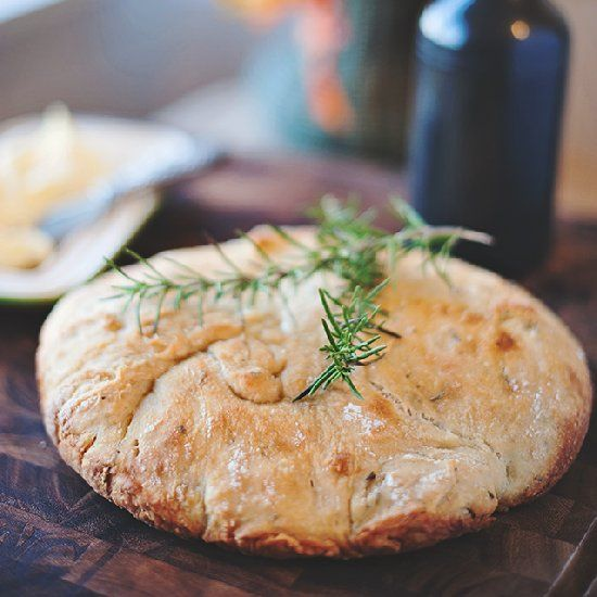 Rosemary-Olive Oil Dutch Oven Bread