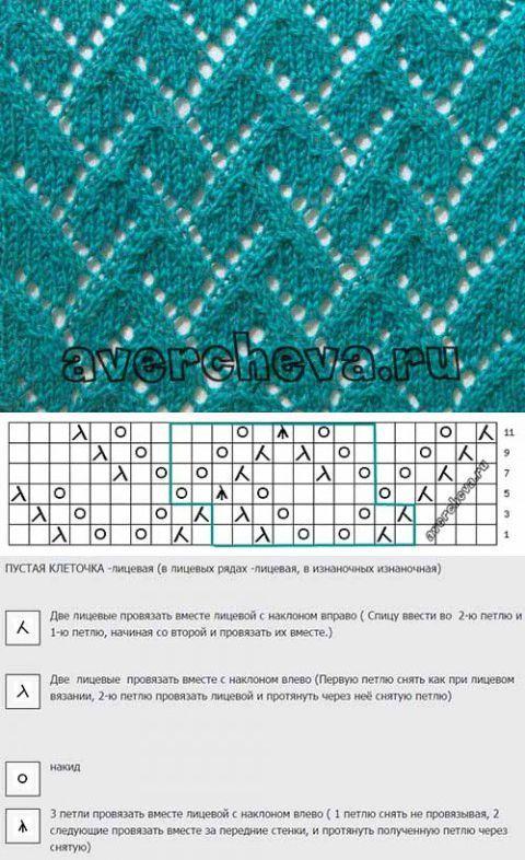 Симпатичный узор для вязания спицами | Искусница