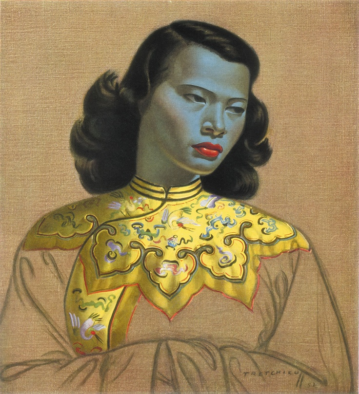 The Chinese Girl - 'Although Tretchikoff spent his early years in China, this portrait was painted in Cape Town. The model is a member of the small Chinese community there. Possibly the best known of all Tretchikoff's paintings.'